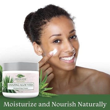 Amazing Aloe Vera Moisturizing Cream for Women - All Purpose Facial Skincare for All Skin Types - Natural and Organic Ingredients - Your Anti-Aging Face Moisturizer from Green Leaf Naturals
