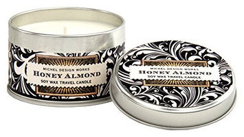 Michel Design Works Soy Wax Candle Travel Tin Size Honey Almond