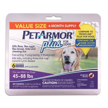 Sergeant's Pet Care Products, Inc. PetArmor Plus for Dogs 45-88 Lbs, 6-Count