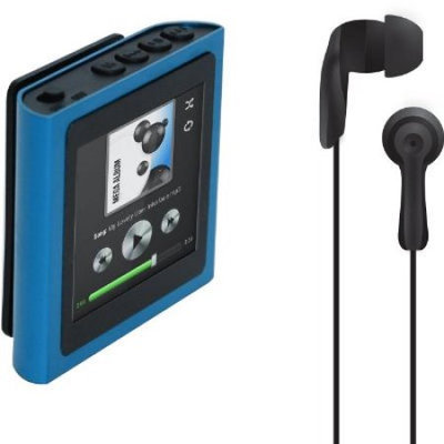 Polaroid PMP120-4 4GB MP3 Digital Music/Video Player & Voice Recorder w/1.8 Touchscreen - Blue
