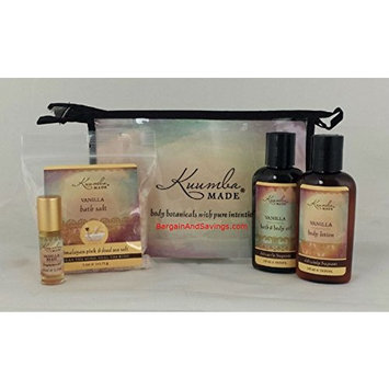 Kuumba Made Four (4) Treasures Collection Gift Set (Vanilla)