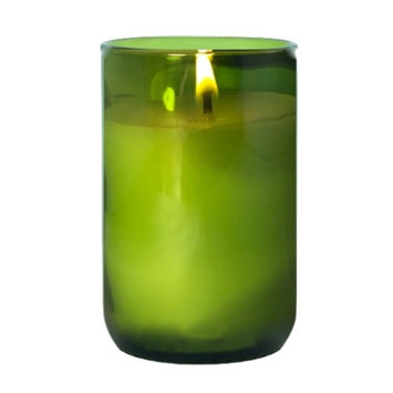 Made With A Mission Wine Bottle Candle Kelly Green