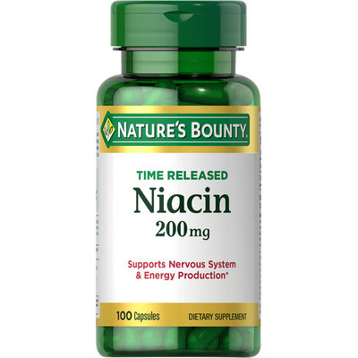 Nature's Bounty Nature's Bounty Time Released Niacin 200 mg-100 Capsules