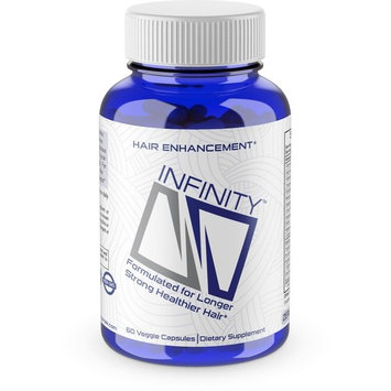 Infinity Hair vitamins for Faster Hair Growth w/OrganicNuflow - For Longer, Stronger, Healthier Hair - Scientifically Formulated with Biotin, Keratin, & More! - All Hair Types - Veggie Capsules