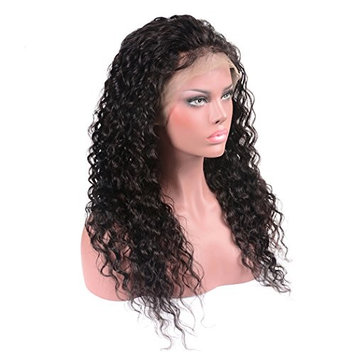 BEAUFOX Brazilian Water Wave Lace Front Wigs Human Hair With Baby Hair Water Wave Lace Frontal Wig For Black Women Pre Plucked Human Hair Wig (10in Front, Natural Color)