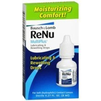 Bausch & Lomb Renu MultiPlus Lubricating & Rewetting Drops 0.27 oz. (Quantity of 6)