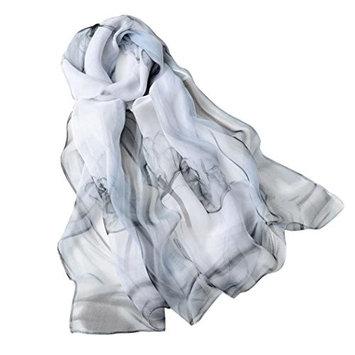 Datework Women Long Soft Shawl Chiffon Wrap Scarf