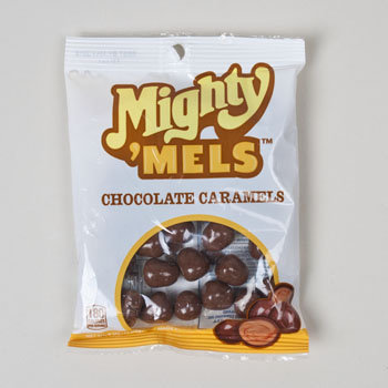 Dollaritemdirect CANDY CHOCOLATE MIGHTY MELS CHOCOLATE COVERED CARAMELS 4 OZ, Case Pack of 8
