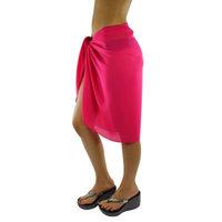 Luxury Divas Sheer Knee Length Cover Up Sarong Wrap for Women