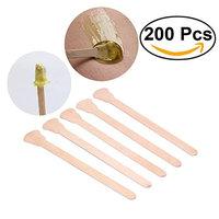 Wax Spatulas, 200pcs Set Wooden Tongue Depressor Disposable Waxing Spatulas Wax Stick (Original Wooden Color)