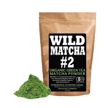 Organic Matcha Green Tea Powder, Wild Matcha #2 Ceremonial Grade, Authentic Japanese Matcha Grown in The Mountains, JAS Certified Organic