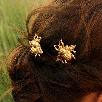 Unicra Wedding Hair Pins for Bride- Honeybee Bobby Pins-Golden Bee Hair Pins-wedding accessories(pack of 2)