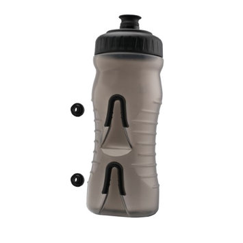 Fabric 2017 Cageless Bicycle Water Bottle - 22oz - FP4016U (Clear/Black)