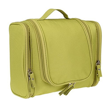 Travel Toiletry Bag For Women & Men, Hanging Toiletry Kit for Travel Accessories, Personal Items, Cosmetic, Shaving or Makeup – Use in Hotel, Home, Airplane, Train, Camping – Green Color