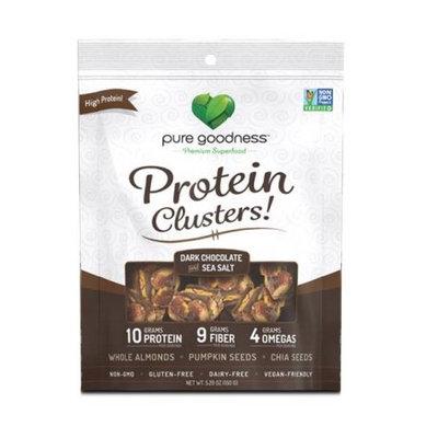 Wellnx Pure Goodness Nut Clusters, Dark Chocolate; Sea Salt, 5.29 Oz