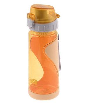 Student Sports Lid Design Apricot Plastic Tea Water Bottle Holder 550ml