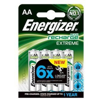 4pk Extreme Rechargeable AA 2300mAh Batteries