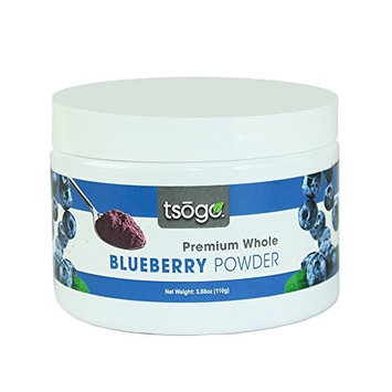 Tsogo Premium Whole Fruit Blueberry Powder, 110g 48 Servings of Premium Quality 100% Whole Freeze-Dried Blueberry Fruit Powder - No Added Flavors, Fillers or Sugars