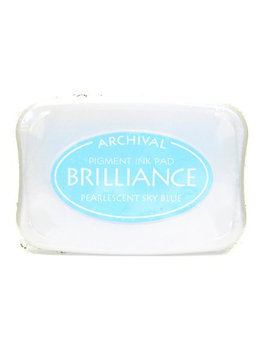 Tsukineko Brilliance Archival Pigment Ink pearlescent sky blue, 3.75 in. x 2.625 in, pad [pack of 2]