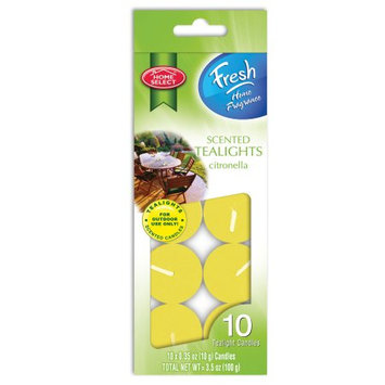 Delta Brands Home Select - Fresh Home Fragrance - Scented Tealight Candles - Citronella - 10 ct.