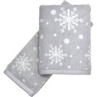 CHF Industries Peri Home Snowflakes 2-piece Fingertip Towel Set
