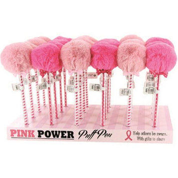 D.m. Merchandising DM Merchandising 2266696 Breast Cancer Awareness Puff Pom Pom Pen