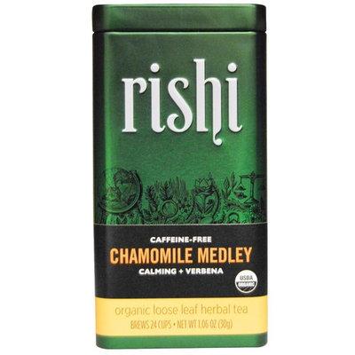 Rishi Tea, Organic Loose Leaf Herbal Tea, Chamomile Medley, Caffeine Free, 1.06 oz (30 g) [Flavor : Chamomile Medley]