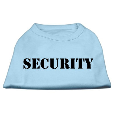 Mirage Pet Products 5148 XSBBL Security Screen Print Shirts Baby Blue with black text XS 8