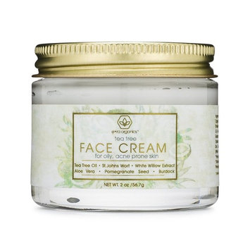 Tea Tree Oil Face Cream - For Oily, Acne Prone Skin 2oz Natural & Organic Facial Moisturizer with 7X Ingredients For Rosacea, Cystic Acne, Blackheads...