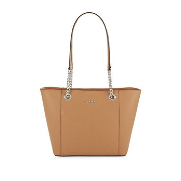 Leather Chain Strap Tote [material: material-leather]