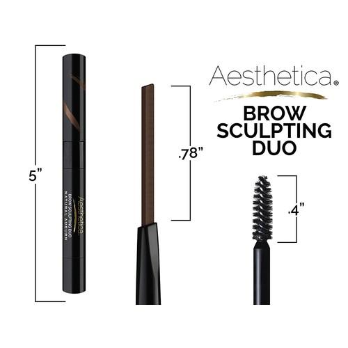 Aesthetica Brow Sculpting Duo - Eyebrow Definer/Brow Gel (Auburn)