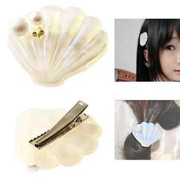 Bluelans Stylish Womens Girls Shell Faux Pearl Hairpin Hair Clip Barrettes