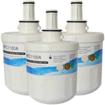 Deltafill Enterprises, Inc. 3 Pack RFC-1100A Compatible Water Filter for SAMSUNG