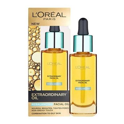 L'Oreal Paris Nutri Gold Extraordinary Facial Oil for Dry Skin, 1 Oz (30ml) + Curad Bandages 8 Ct.