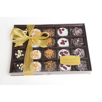 Barnett's Holiday Gift Basket - Elegant Chocolate Covered Sandwich Cookies Gift Box - Unique Gourmet Food Gifts Idea For Men, Women, Birthday,...