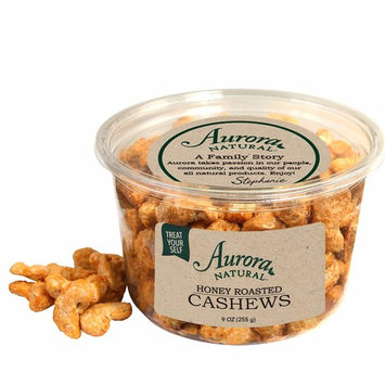 Aurora Natural Products Honey Roasted Cashews, 8 Ounce