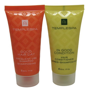 Temple Spa Conditioner and Shampoo 4 total (2 of each) 1oz tubes.