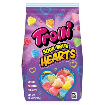 Trolli Sour Brite Hearts Gummy Candy, 12 oz