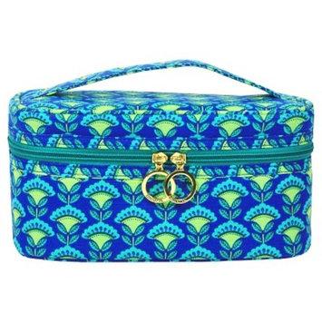 Contents Cobalt Blossom Train Case Cosmetic Bag