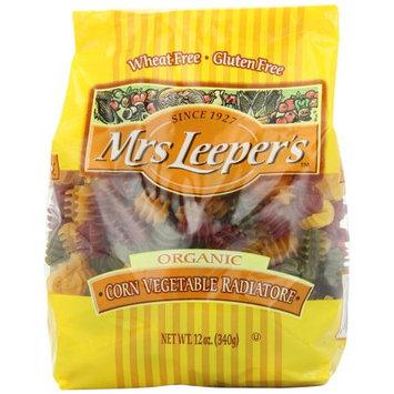 Mrs Leepers Radiatore, Vegetable Corn, Organic, 12 OZ (Pack of 2)