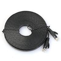Malloom 100CM-1M Lengh Flat Cat6 Network Ethernet Patch Cable Modem Router RJ45 for LAN Network