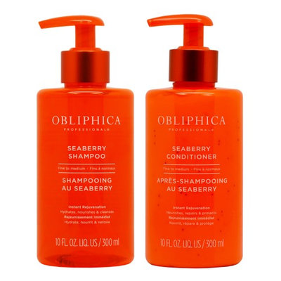 Obliphica Seaberry Fine to Medium Shampoo + Conditioner 10oz 'Set'