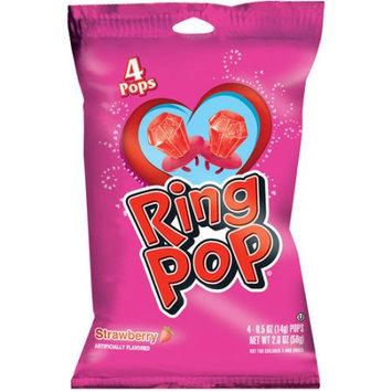 Ring Pop Valentine's Day Strawberry Pops, 0.5 oz, 4 count