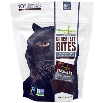Endangered Species Chocolate, Chocolate Bites, Dark Chocolate, 4.2 oz (119 g) [Flavor : Dark Chocolate]