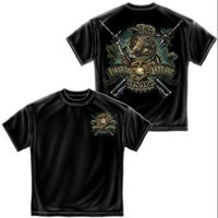 Cotton Marine Devil Dog First In Last Out T-Shirt