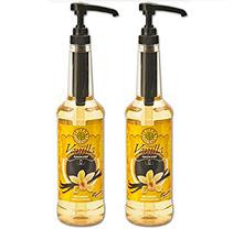 Sunny Sky French Vanilla Coffee Syrup - 750 ml Bottle with Pump Included - 2 Pack