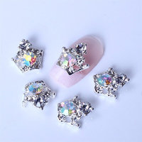 10x 3d Nail Art Alloy Clear Crystal Bling AB Rhinestones Crown for Nail Art & Cell Phone DIY Decoration