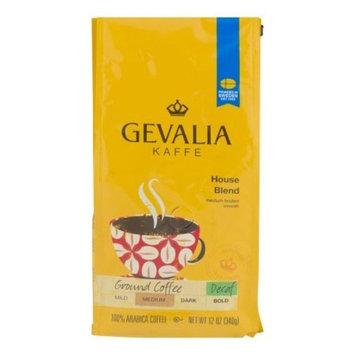 Gevalia Kaffe House Blend Medium Roast Decaf Ground Coffee, 12 OZ (340g), Pack of 6 + Cleaning Pads