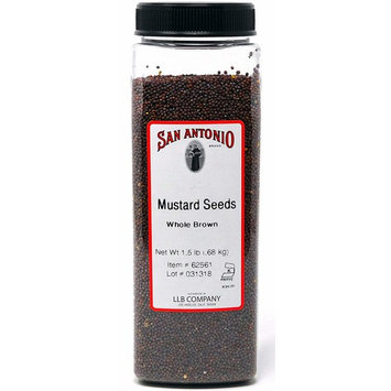 24 Ounce Premium Whole Brown Mustard Seed, 1.5 Pound Bulk Seeds