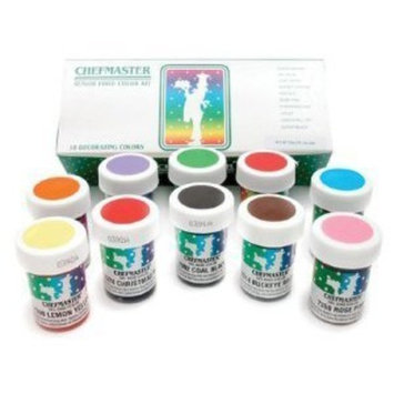 Chefmaster Food Coloring Kit: Ten 1-Ounce Colors